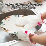 Natural Waterproof Microfiber Dishwashing Gloves(1 pcs)