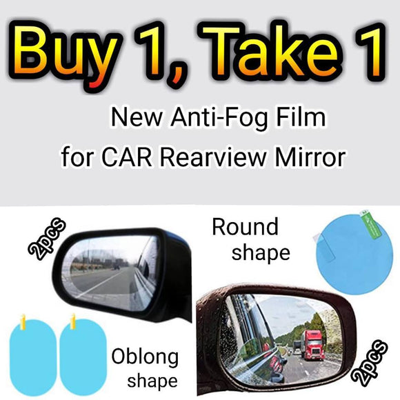 Car Rear view Mirror Waterproof Membrane Anti-fog Rain Proof Film Sticker Drive Safer(BUY 3 GET FREE SHIPPING)