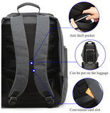 Canvas waterproof casual anti-theft business travel backpack