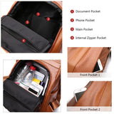 PROMOTION ANTI-THEFT WATERPROOF SOFT LEATHER CASUAL BACKPACK & SHOULDER BAG WITH LARGE CAPACITY
