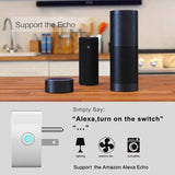10A Round Shape WiFi Mini Plug APP Remote Control Timing Smart Socket Compatible with Alexa & Google Home, AC 110-125V, US Plug