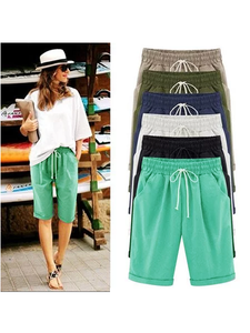 Drawstring elastic belt shift pocket shorts(BUY 2 GET FREE SHIPPING)