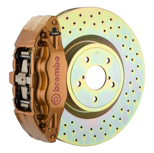 Brembo GT Brake System (Gold Calipers) - (Front) 4-Piston 326x30 mm (12.8