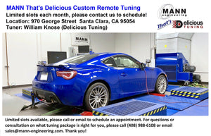 Mann That's Delicious Remote Custom Tuning Packages