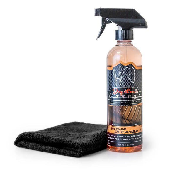 Jay Leno's Garage Leather Cleaner & Microfiber Combo