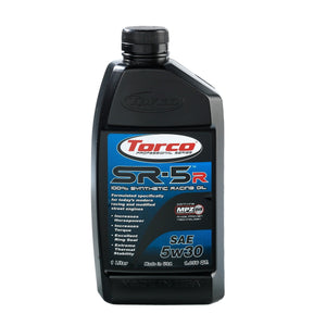 TORCO SR-5R Synthetic Racing Oil, 5w30