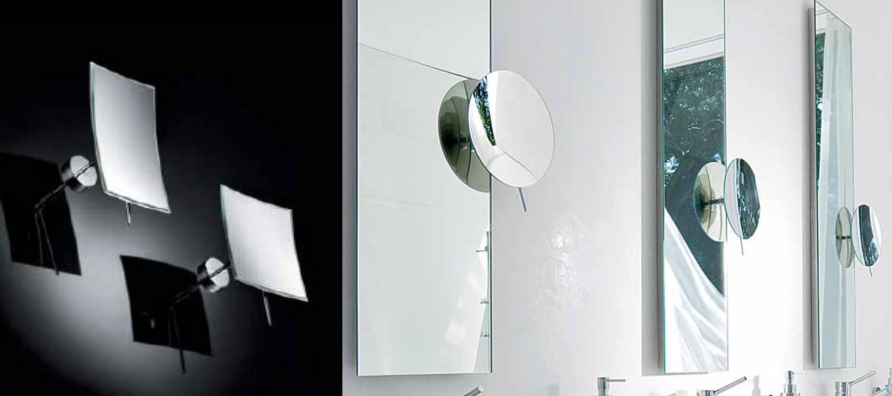 Italian Designer Wall-Mounted Magnifying Mirrors