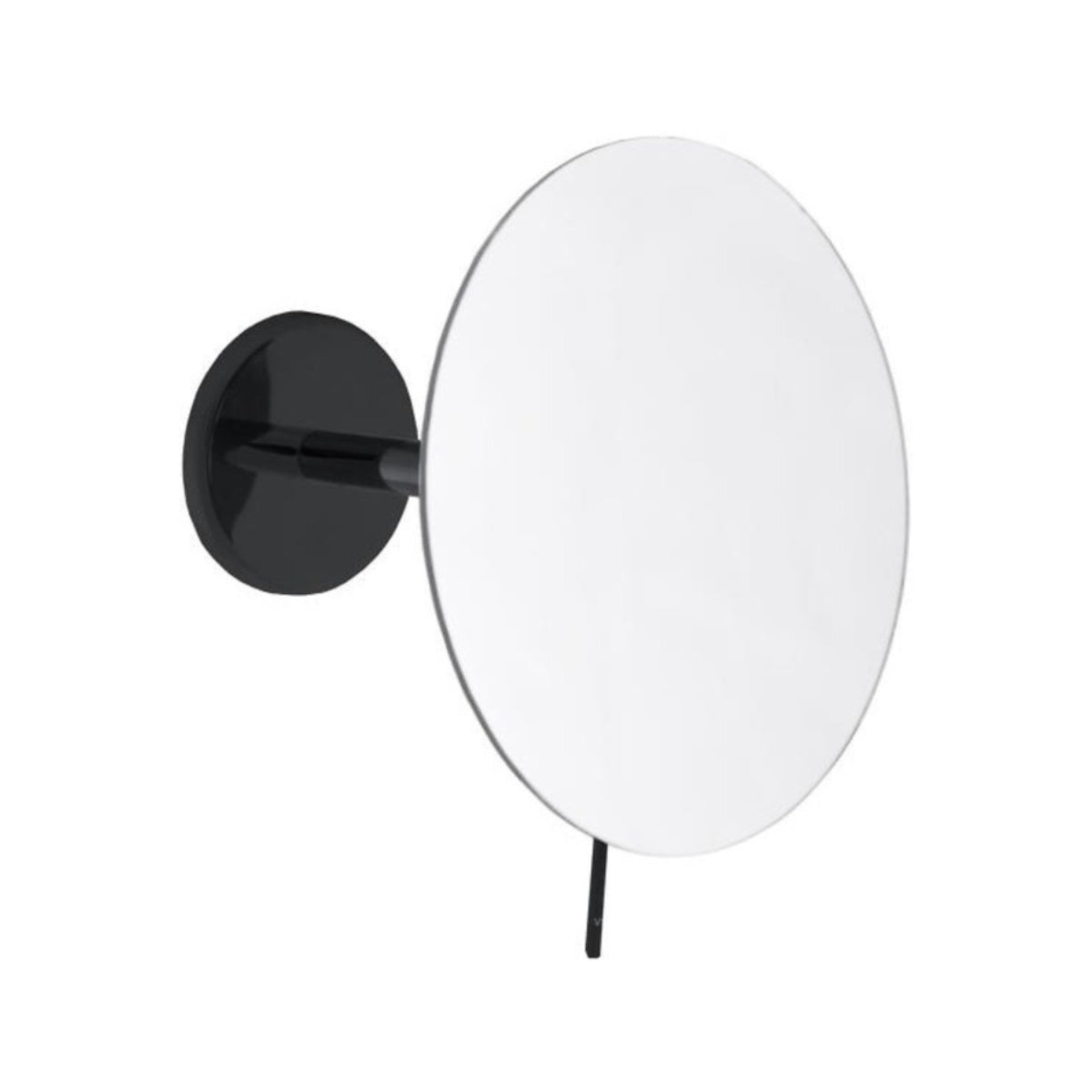 Emco Black Wall Mirror, 3x, Round