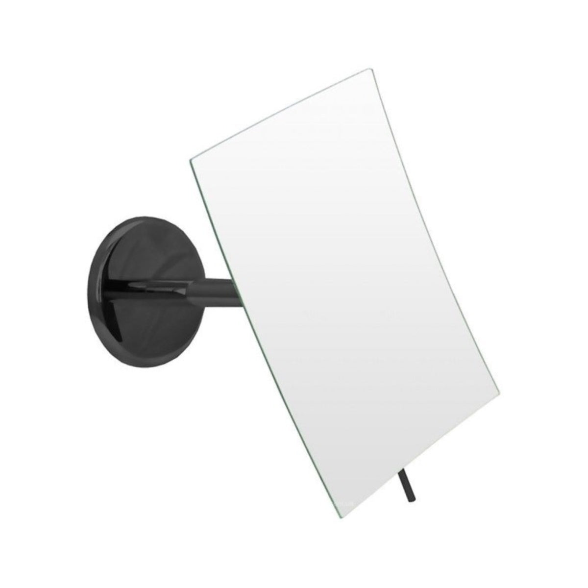 Emco Black Wall Mirror, 3x, Rectangular