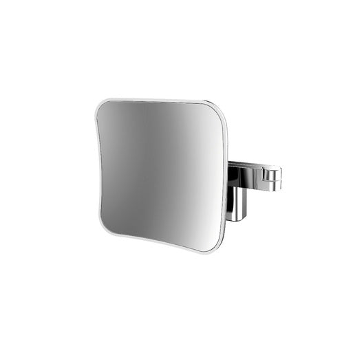 Emco Light Diffusion LED Square Mirror, 5x Magnification