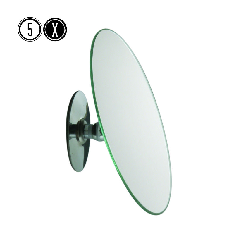 Frasco Stickon Wall Mirror, 5x STRONG Magnification, Ø 150mm - The Magnifying Mirror Store