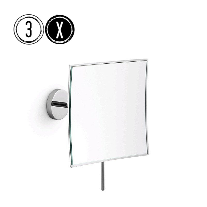 Lineabeta Wall Mirror, 3x Magnification, Square, 156x156mm - The Magnifying Mirror Store