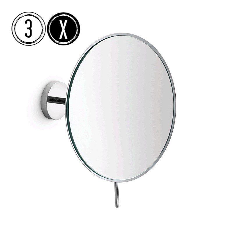 Lineabeta Wall Mirror, 3x Magnification, Round, Ø 186mm - The Magnifying Mirror Store