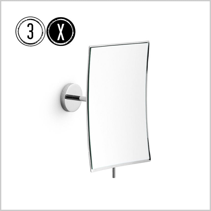 Lineabeta Wall Mirror, 3x Magnification, Rectangular, 125x170mm - The Magnifying Mirror Store