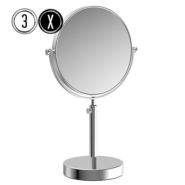 Frasco Luxury Tabletop Mirror, 3x Magnification, Ø 190mm - The Magnifying Mirror Store