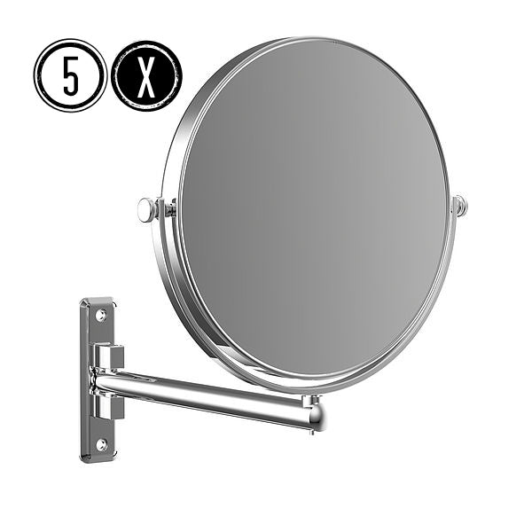 Wurzburg Hotel Wall Mirror, 5x Strong Magnification, Ø 190mm - The Magnifying Mirror Store