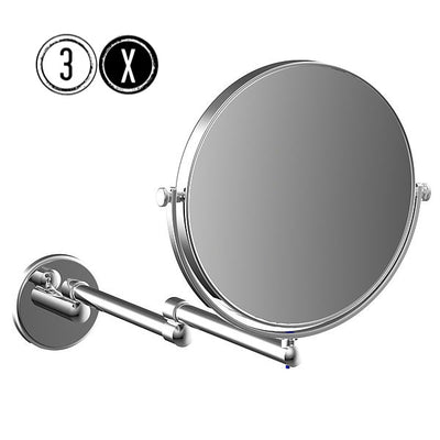 Frasco Luxury EXTRA REACH Wall Mirror, 3x Magnification, 2-arm, Ø 190mm - The Magnifying Mirror Store