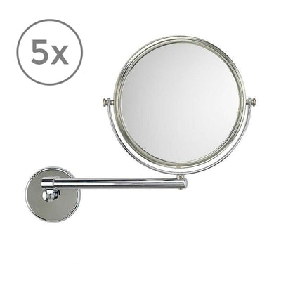 Frasco Luxury Wall Mirror, 5x Magnification, 1-arm, Ø 190mm - The Magnifying Mirror Store