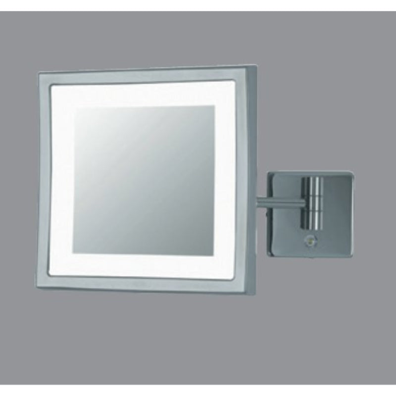 POWER LED Square Wall Mirror - Double arm - 3x (Damaged Packaging)