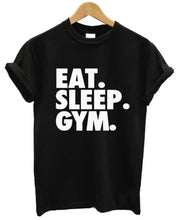 EAT SLEEP GYM Women's Cotton Short-sleeve T shirt