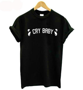 CRY BABY Women's Cotton Short-sleeve T-Shirt