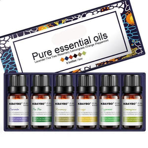 6 Essential Oils (10ml) for Diffuser, Aromatherapy, Humidifier