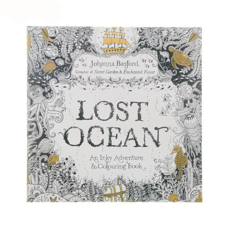 24 Page Lost Ocean Stress Relief Adult/Child Craft Coloring Book