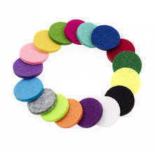 20 pc Colorful Aromatherapy Oil Diffuser Felt Replacement Pads for Locket Necklace