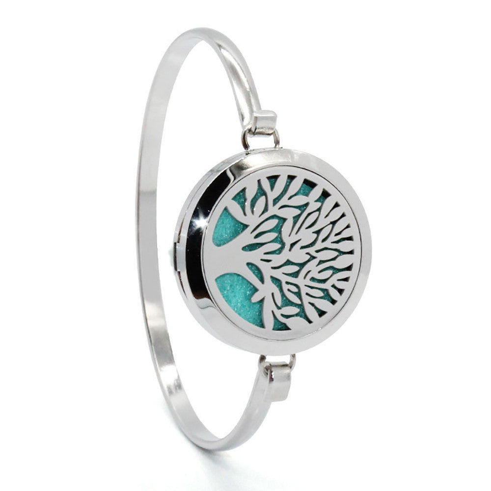 Tree of Life  Essential Oils Diffuser Bracelet with 8 pads