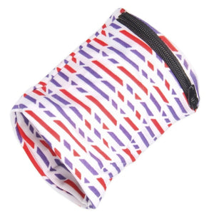 Lycra Reflective Zipper, Wrist Wallet