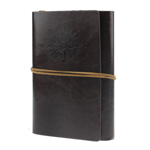 Classical Spiral Vintage Anchor Leather Journal