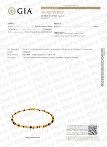 Baltic Amber Bracelet for Adult (Cognac Raw) - 2 Sizes