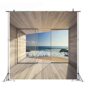 Summer Sea Waves Photography Backdrop