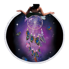 Dream Catcher Round Bohemian Tapestry Beach or Yoga Blanket