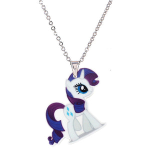 Unicorn Acrylic Pendant Necklace (multi-color options)