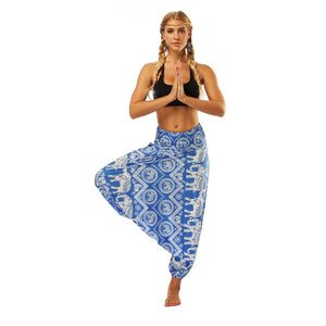 India Vintage Elephant 3D Print Yoga Pants