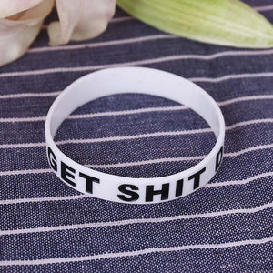 "Silicone Rubber ""GET SHIT DONE"" Wristband/Bracelet"