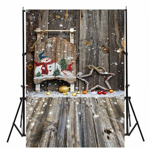Christmas Snowman Photography Background 3x5 FT