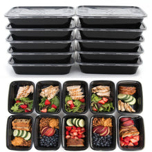 Meal Prep BPA-Free Plastic Food  Plastic Food Storage Containers (Microwave Dishwasher Freezer Safe)