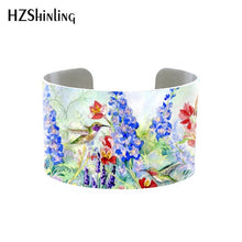 Hummingbird Wide Cuff Adjustable Bracelet