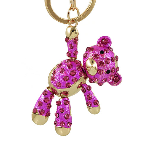 Crystal Bear Key Chains