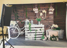 White Bicycle Photography Backdrop