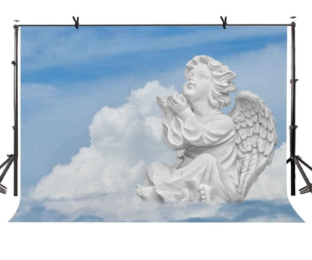 Angel Statue Photography Backdrop