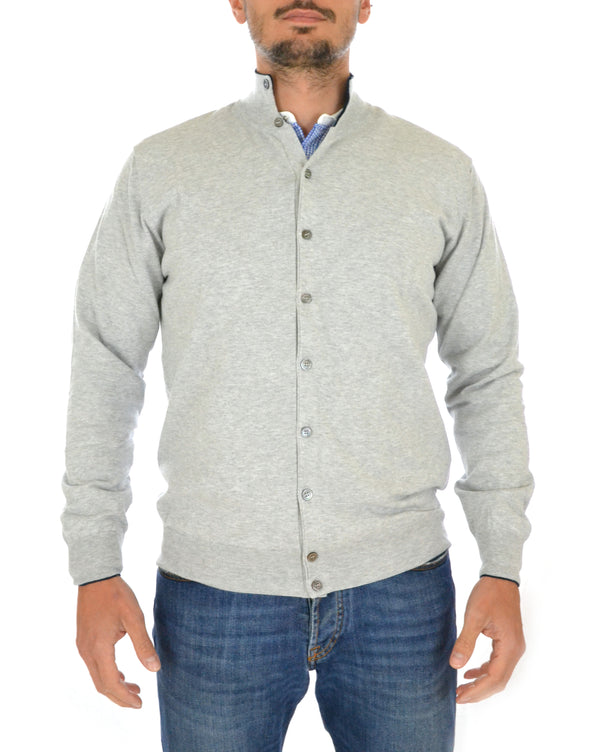 Cardigan E28905 Gray Arrows - mario gualano
