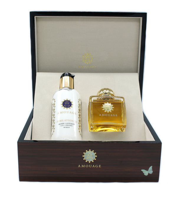 COFFRET Fragrance + Lotion body-JUBILATION 25 Woman 12814 Amouage-mario gualano