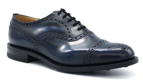 EEC076 SCALFORD blue navy Church's shoe - mario gualano