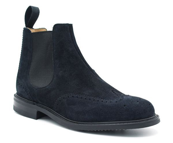 Ankle boot CRANSLEY ETC007 navy blue Church's - mario gualano