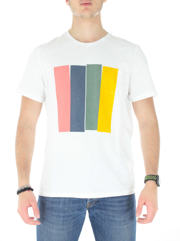 T-shirt Mahalf GATSMAHET8032MS21 Bianco