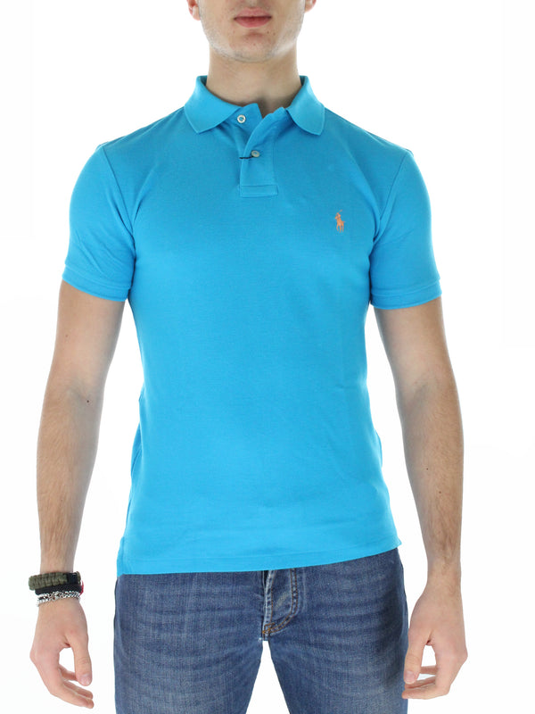 Polo slim fit 7107950800 turchese
