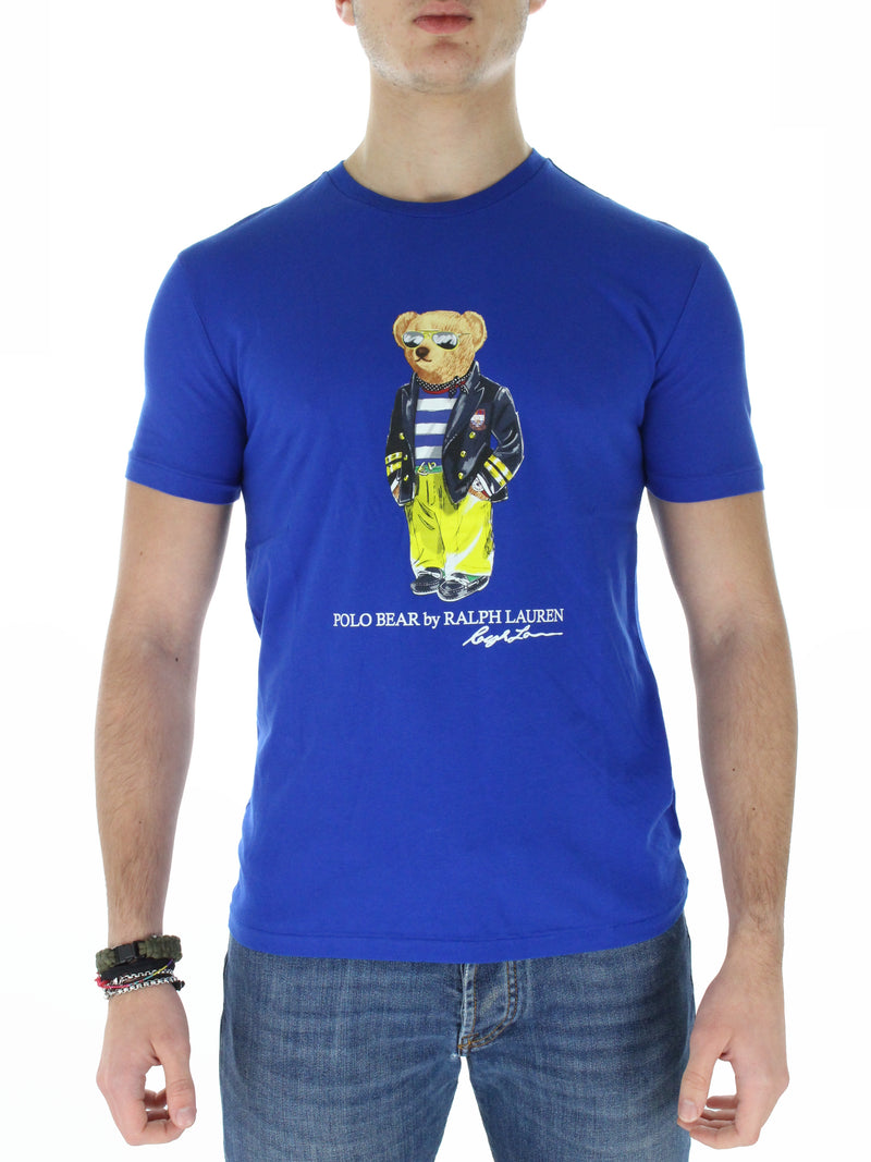 T-Shirt Orsetto custom slim fit 7108373060 azzurro